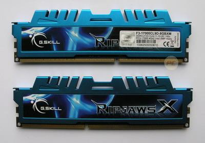 G.Skill 8GB DDR3-2133 RipjawsX