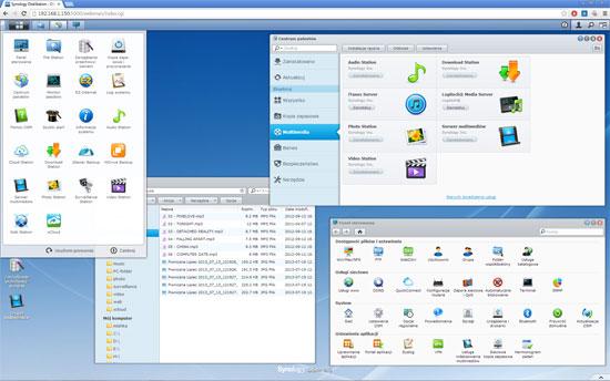 DiskStation Manager (DSM) na dużym ekranie